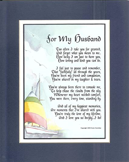 Amazon A Christmas Present Or Birthday Gift For Husband 80 Poem Home Kitchen