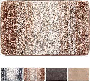 """Julone Indoor Doormat No Odor Non Slip Rubber Backing Super Absorbent Mud and Water Door Mats Inside Entrance Floor Rugs Pet Mat Machine Washable Carpet - Brown Snowflakes, 20"""" x 31.5"""""""