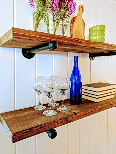 "Industrial Floating Shelf (10"" Deep), Floating Shelf, Floating Shelves,  Industrial"
