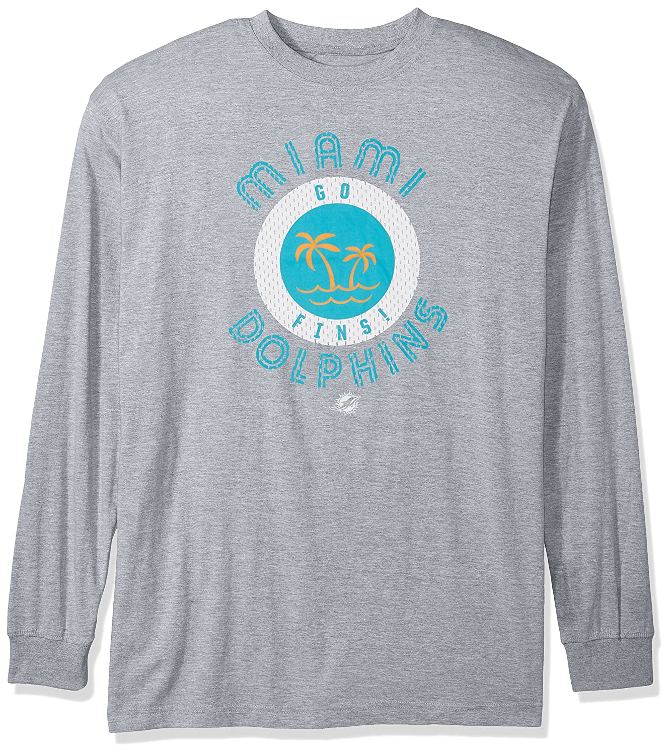 NFL Mens Dolphins L S Tee Screen Tee