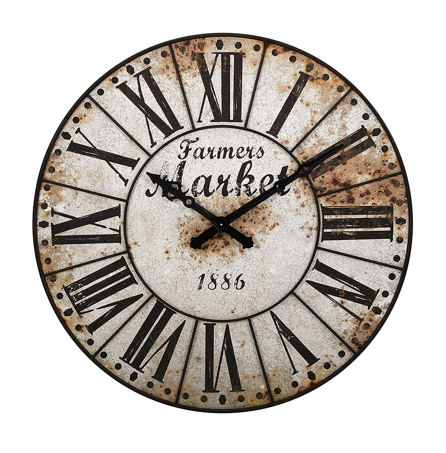 Amazon imax 18324 farmers market oversized wall clock home amazon imax 18324 farmers market oversized wall clock home kitchen amipublicfo Images