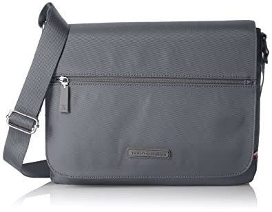 511fc51b6e Tommy Hilfiger Alexander Flap Messenger Bag, Dark Gull Gray-Pt ...