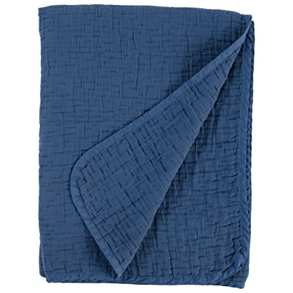 f58eb9d3a57 Amazon.com  Stone   Beam Locklar 100% Cotton Lightweight Pick-Stiched  Blanket