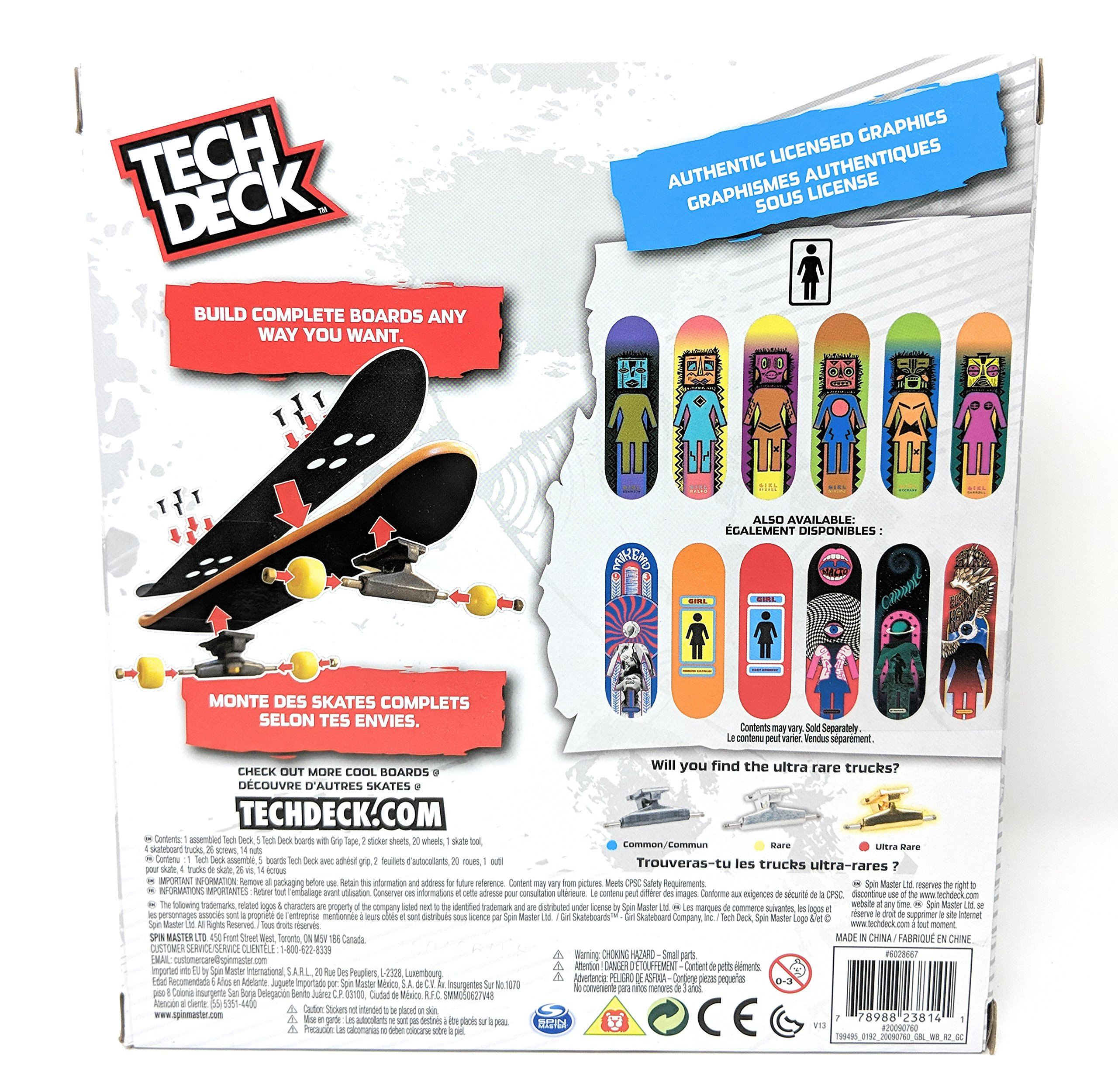 Tech Deck Sk8shop Bonus Pack Girl Skateboards with 6 Fingerboards by Tech Deck (Image #2)