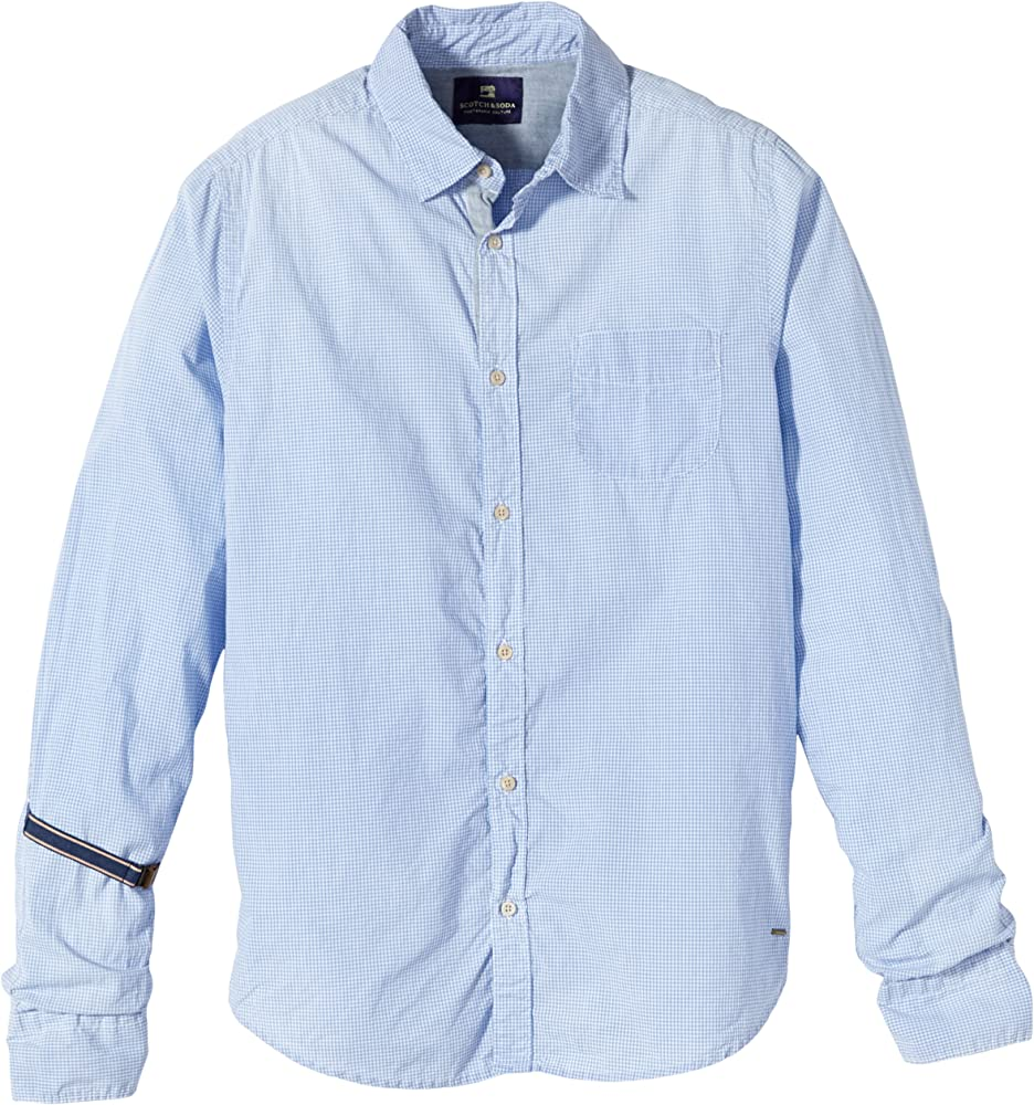 Scotch & Soda - Camisa para hombre, talla 2XL, color dibujo b: Amazon.es: Ropa y accesorios