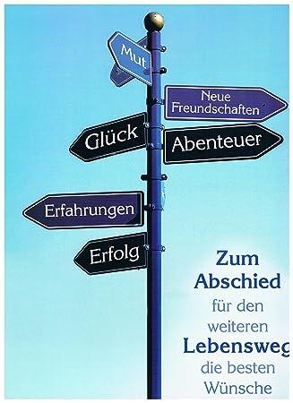 karte zum abschied Karte XXL  Zum Abschied : Amazon.de: Bürobedarf & Schreibwaren