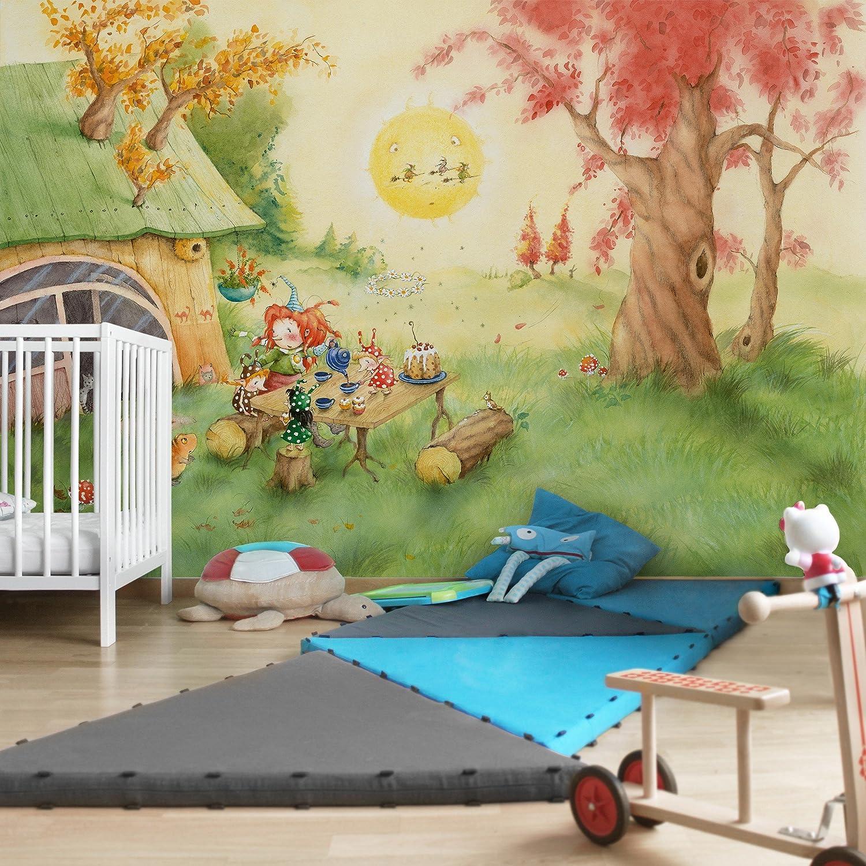 Kinderzimmer Vlies Tapete Premium Frida frühstückt Foto Tapete Breit Wand Deko