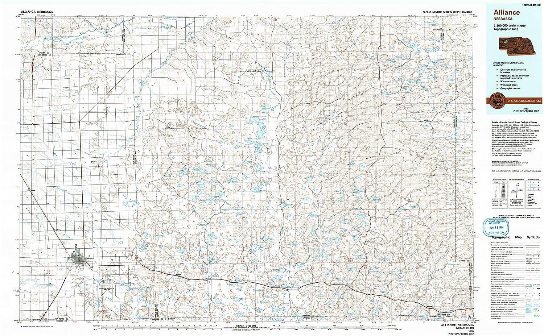 Amazon Com Yellowmaps Alliance Ne Topo Map 1 100000 Scale 30 X