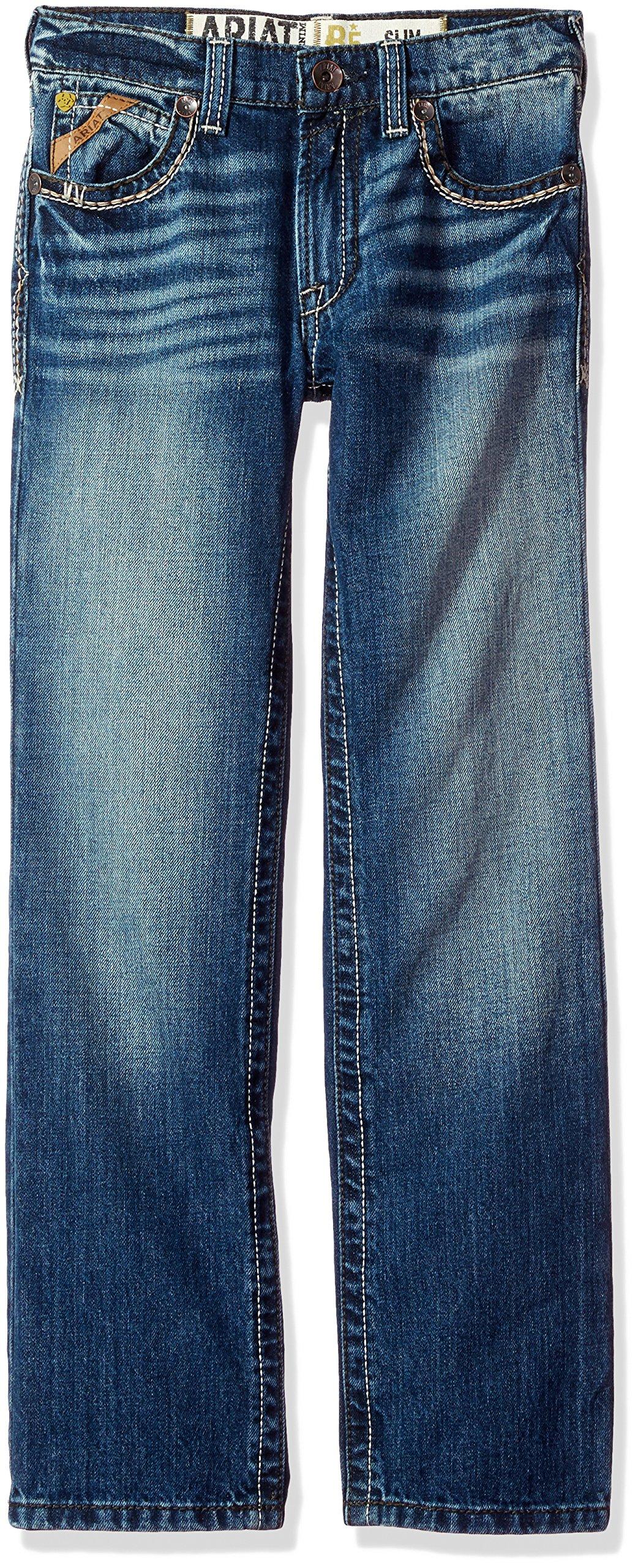 Ariat Boys' B5 Slim Fit Straight Leg Jean, Davis Bayfront, 10 Boys