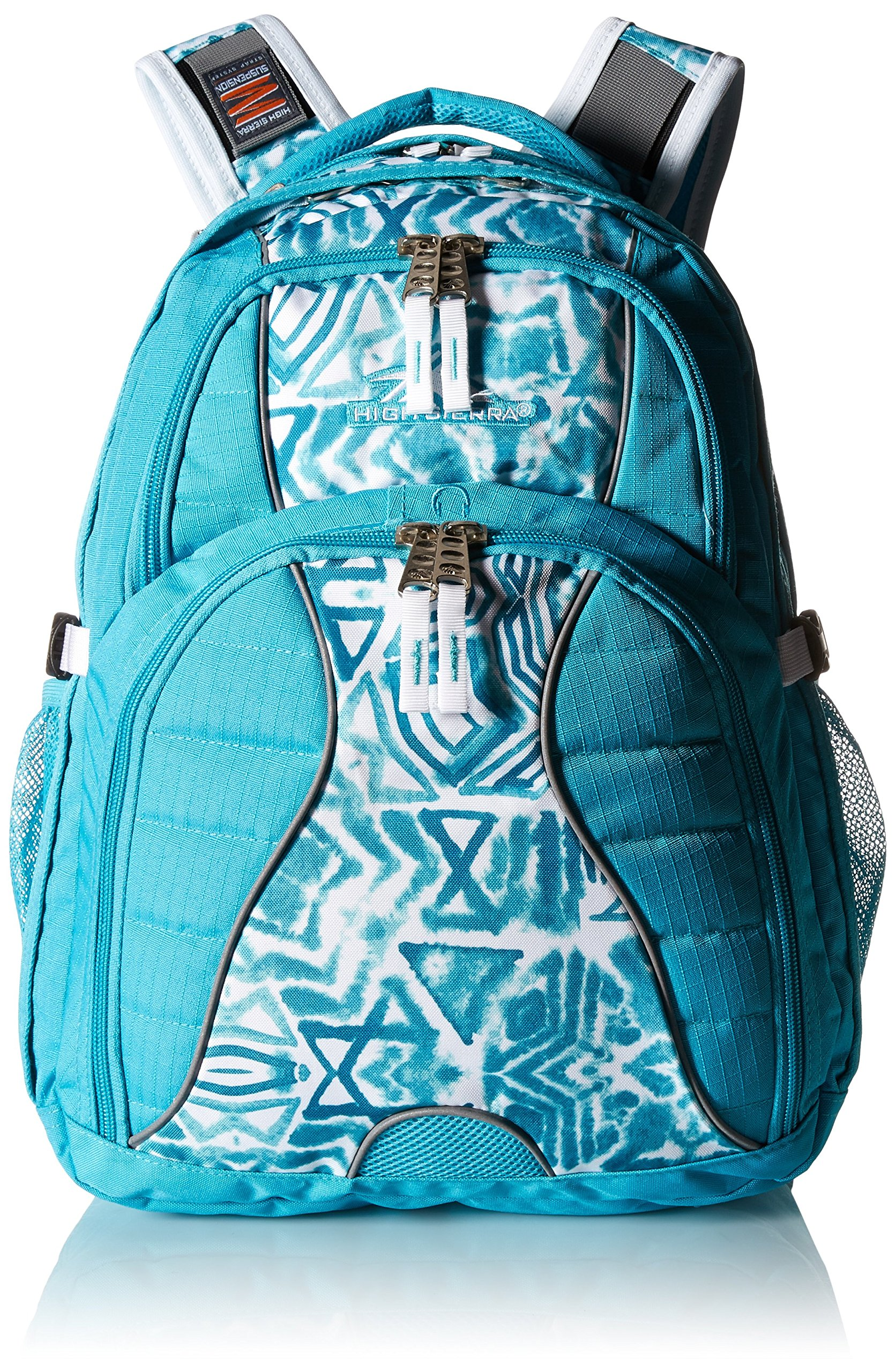 High Sierra Swerve Laptop Backpack, Tropic Teal/Teal Shibori/White by High Sierra