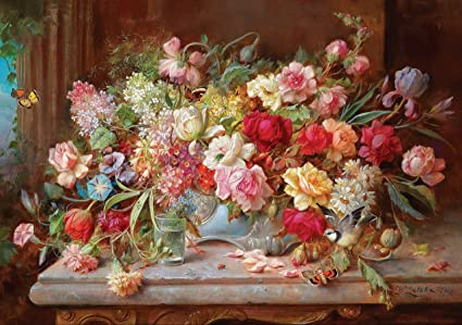 Amazon still life spring flowers painting hans zatzka art still life spring flowers painting hans zatzka art poster a3 print floral picture plant nature botanical mightylinksfo