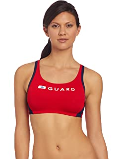 ad17e573892 Amazon.com : Nike Swim Lifeguard Swimsuits - Sport Top 2pc : Sports ...