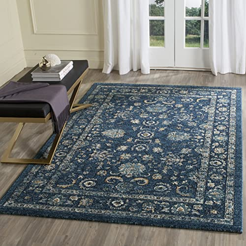 Safavieh Carmel Collection CAR279G Vintage Oriental Navy and Beige Area Rug 5'1″ x 7'6″