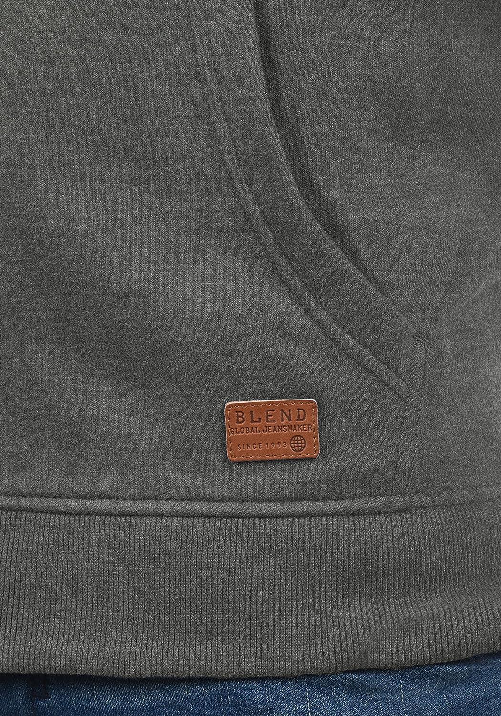 Blend Arco Herren Sweatjacke Collegejacke Cardigan Jacke mit Kurzem Stehkragen