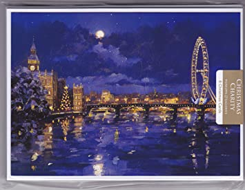 The thames london eye museums galleries charity christmas cards the thames london eye museums galleries charity christmas cards packs of 8 m4hsunfo