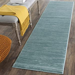 Safavieh Vision Collection VSN606B Modern Contemporary Ombre Tonal Chic Area Rug, 3' x 5', Aqua