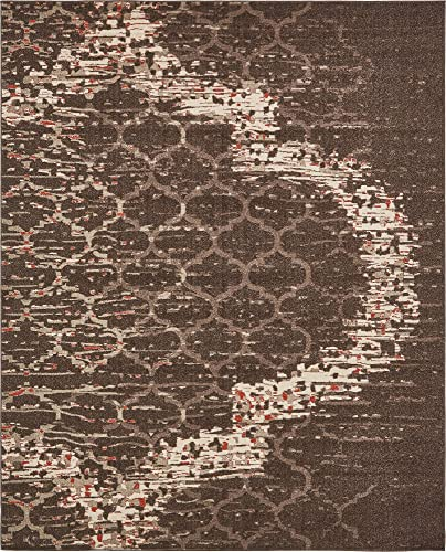 Unique Loom Trellis Collection Geometric Modern Brown Area Rug 8 0 x 10 0