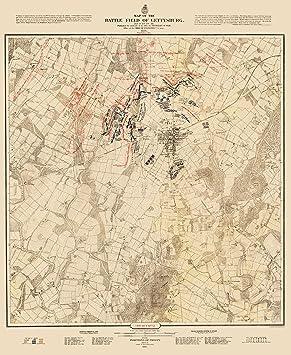 amazon co jp civil warマップ gettysburg battlefield 1st日battle