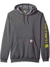 Carhartt Men s B t Signature Sleeve Logo Midweight Hooded Sweatshirt K288 d41aeb741