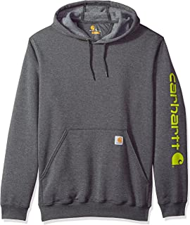 96094dc9aac Carhartt Men's B&t Signature Sleeve Logo Midweight Hooded Sweatshirt K288