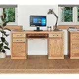 mobel oak hidden home. Baumhaus Mobel Oak Twin Pedestal Computer Desk Hidden Home O