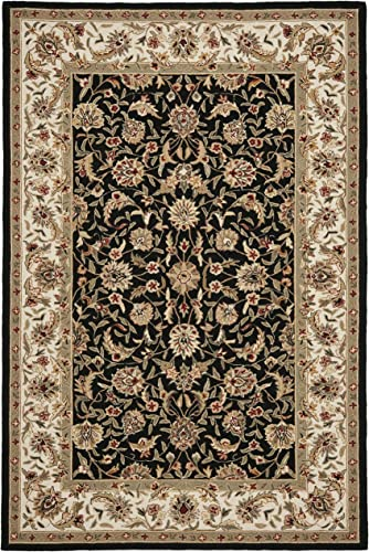 Safavieh Chelsea Collection HK78A Hand-Hooked Black Premium Wool Area Rug 7'9″ x 9'9″