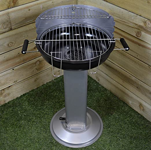 Piquetas para barbacoa bandeja de ceniza de soporte, con ventilación, fácil de limpiar, carbón Jardín Patio: Amazon.es: Jardín
