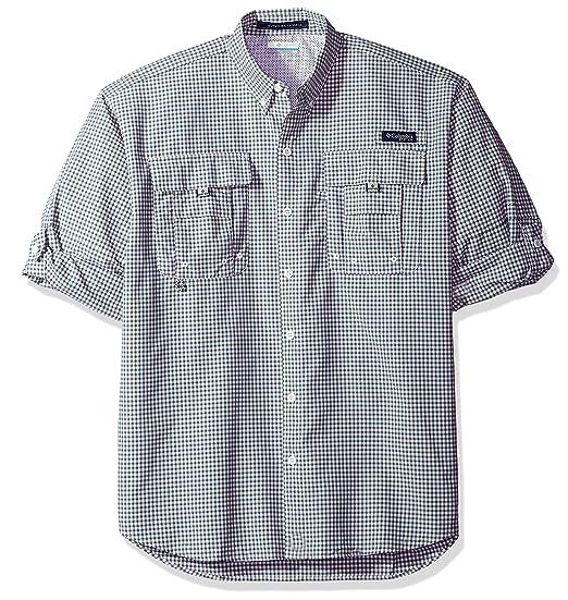 d6353d98d24 Columbia Men's Super Bahama Long Sleeve Shirt, Blue Heron Check, Small