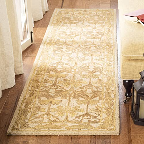 Safavieh Anatolia Collection AN541B Handmade Traditional Oriental Beige and Gold Wool Area Rug 2 x 3