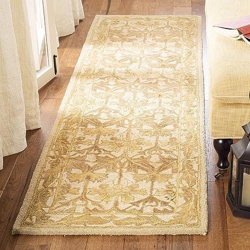 Safavieh Anatolia Collection AN541B Handmade Traditional Oriental Beige and Gold Wool Area Rug 2 x 3