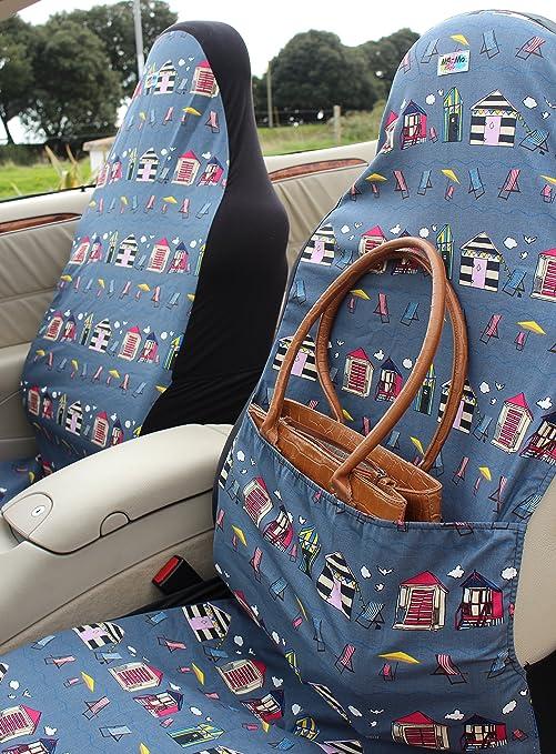 Asiento de coche cubre: par de bolso de mano y airbag-friendly fundas para