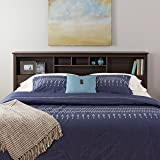 Prepac King Storage Headboard, Espresso