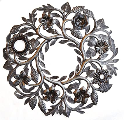Amazon.com: Haitian Metal Wall Art Handcrafted Garden Sculpture ...