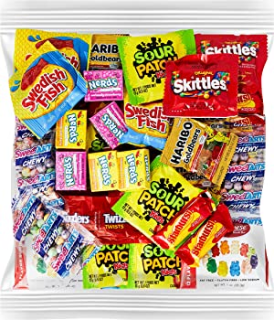 Your Favorite Party Candy - 2 Full Pounds of Sour Patch, Swedish Fish, Haribo & Albanese Gummy Bears, Skittles, Twizzlers, Nerds, Gobstoppers & Starburst. Holiday Gift Stocking Stuffer.
