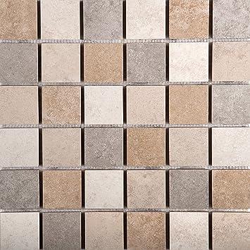 Excellent 12 X 12 Ceramic Tile Huge 12X12 Vinyl Floor Tile Flat 12X24 Floor Tile Patterns 24 X 48 Ceiling Tiles Drop Ceiling Young 3 X 12 Subway Tile Purple3D Floor Tiles Amazon.com: Emser Tile F22BAJAMC1313MOB Baja Mosaic Blend On 13X13 ..