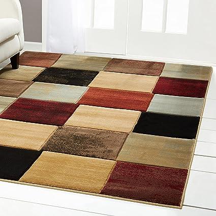 Home Dynamix Evolution Lyonel Area Rug | Modern Formal Dining Room Rug |  Geometric Tiled Pattern