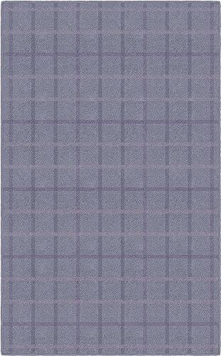 Brumlow Mills Muted Lavender Plaid Rug, 7 6 x 10 ,