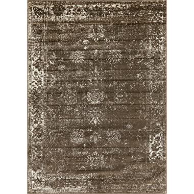 Unique Loom Sofia Collection Traditional Vintage Brown Area Rug (7' x 10')