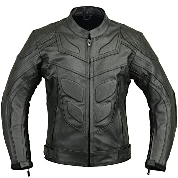Amazon.com: Batman Leather Motorbike Protective Jacket, M ...