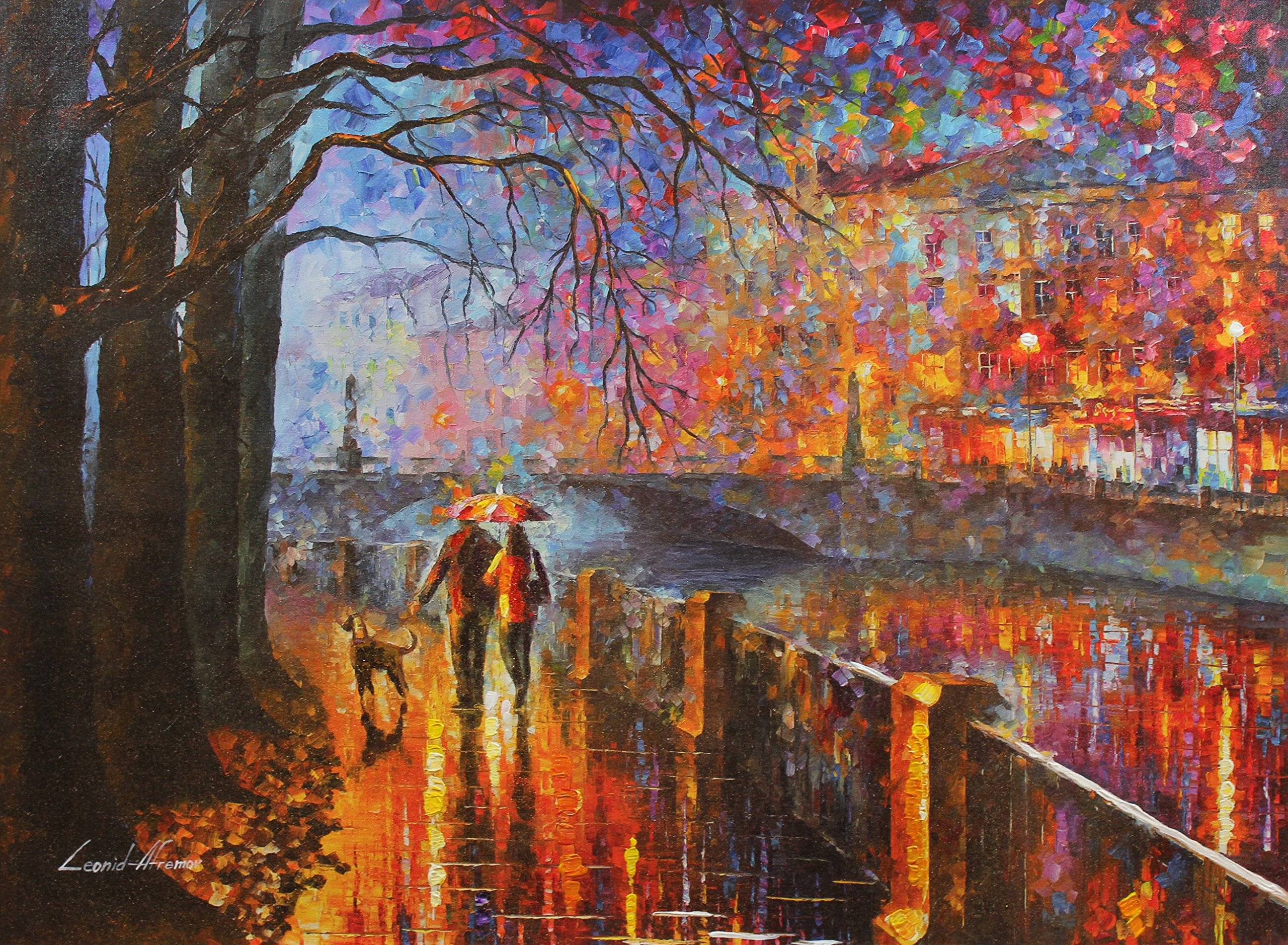 Alley By The River (30 x 40) Gallery Proof