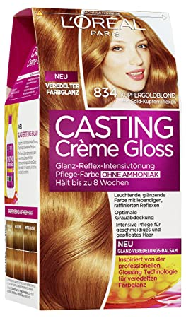 loral a2797704 crme coloration gloss 834 cuivre or blond - Coloration Gloss L Oral