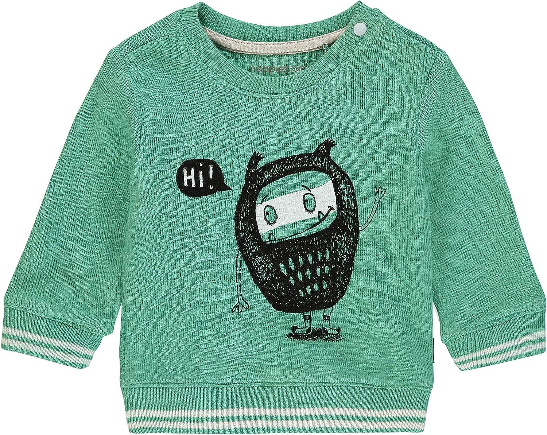 Gestreepte blauw grijze sweater baby jongen van Noppies