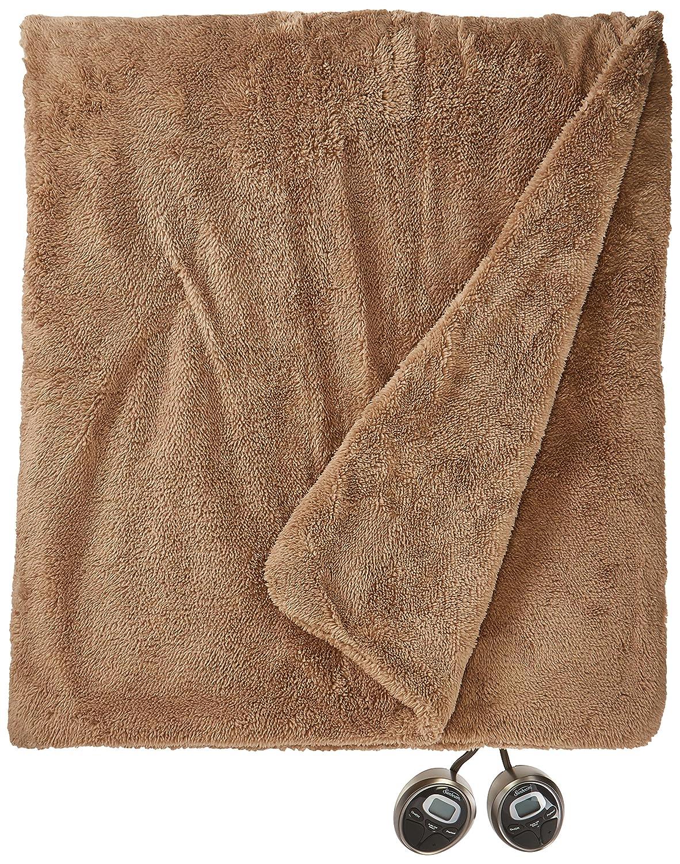 Sunbeam Heated Blanket | LoftTec, 10 Heat Settings, Mushroom, Queen