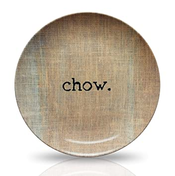 10u0026quot; Microwave Safe Plate - u0027 Chowu0027 Design - Made from ThermoSaf Plastic  sc 1 st  Amazon.com & Amazon.com | 10