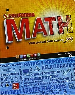 Ca math your common core edition course 1 volume 2 9780021359110 california math course 1 volume 1 fandeluxe Gallery