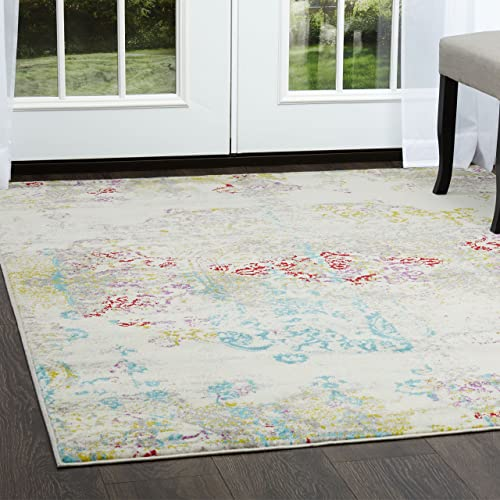 Home Dynamix Boho Makenna Area Rug, 9 2 x12 5 Rectangle, Ivory Blue