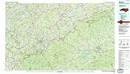 Amazon Com Yellowmaps Boone Nc Topo Map 1 100000 Scale 30 X 60