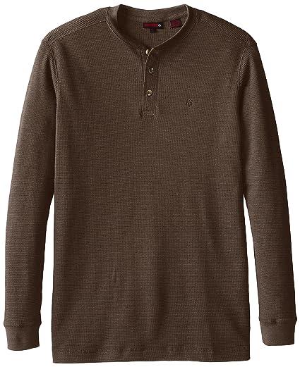 8278973169b Wolverine Men's Big-Tall Walden Long Sleeve Blended Thermal 3 Button Henley  Shirt