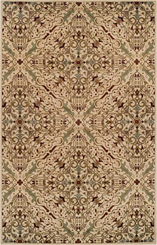 Superior Elegant Camille Collection Area Rug, 10mm Pile Height with Jute Backing, Intricate Traditional Rug Pattern, Anti-Static, Water-Repellent Rugs – 8 x 10 Rug
