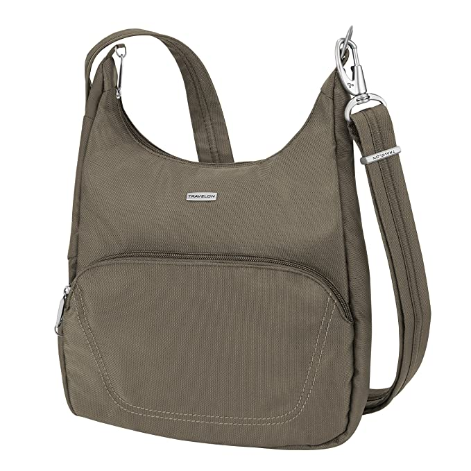 3478be05e15 Amazon.com   Travelon Anti-Theft Classic Essential Messenger Bag, Nutmeg   Messenger  Bags